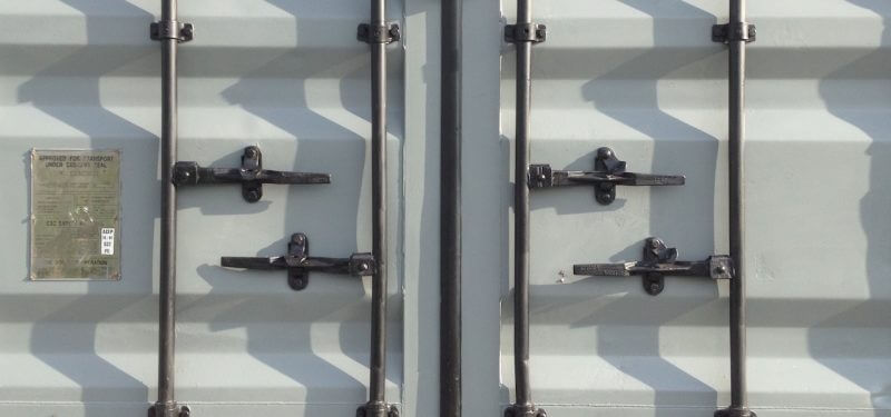 Shipping Container Door Locked