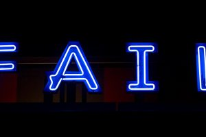 Neon sign saying,