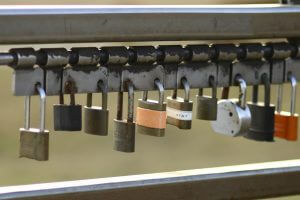 Locks in a row