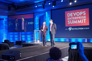 Gene Kym and Sam Fell at DevOps Enterprise Summit 2017 San Francisco