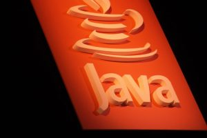 Java logo on a sign