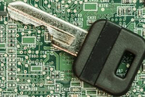 A key on a circuit board