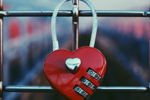 Heart-shaped combination lock