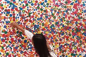 Many different color dots as art