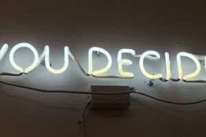 Neon sign reading