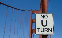 No U-turn allowed sign
