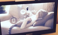 Spotify on TV screen