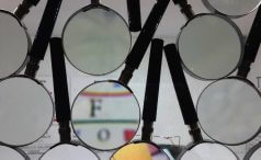 Many magnifying glasses