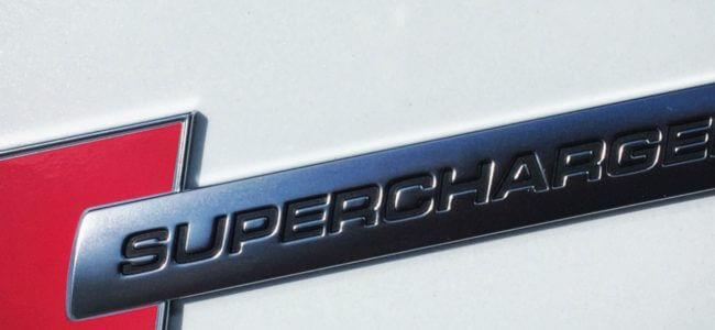 Supercharged badge