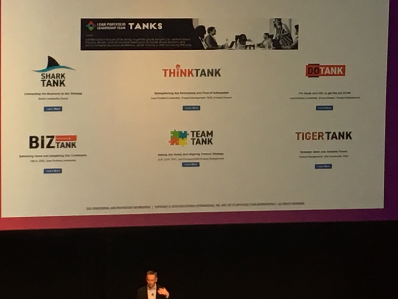 "Scott Prugh explains CSG's ""tanks"" concept at DOES 18"